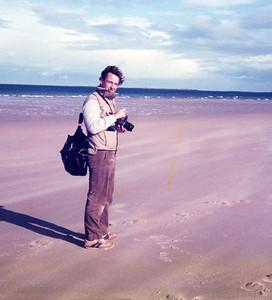 DM Bamburgh beach 1982