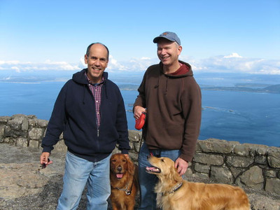 Atop Mt Washington, Puget Sound, Washington State -- Homer and Roger