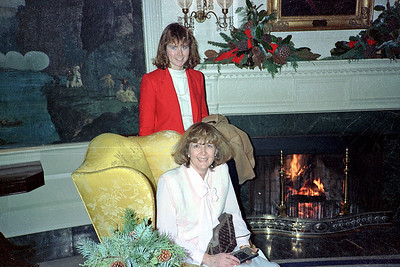 Mary and Susan at the White House Christmas party