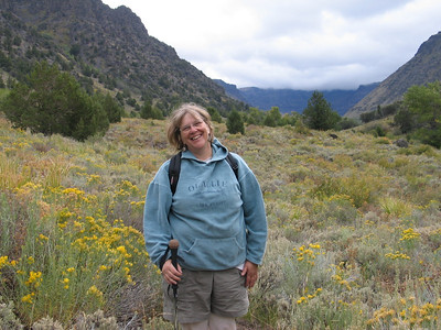 friend Francine Boullosa at Little Indian Gorge, Steens Mountain, Oregon