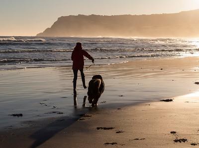 Robin Hoods Bay beach.....dog walking heave