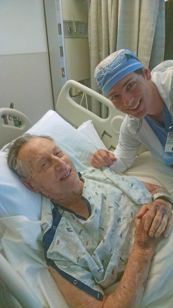 My dad Eli, with his surgeon, who had been a student of mine 2 years earlier