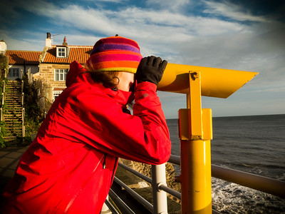 seaside telescope at Robin Hoods Bay, yorkshir