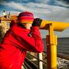 seaside telescope at Robin Hoods Bay, yorkshir