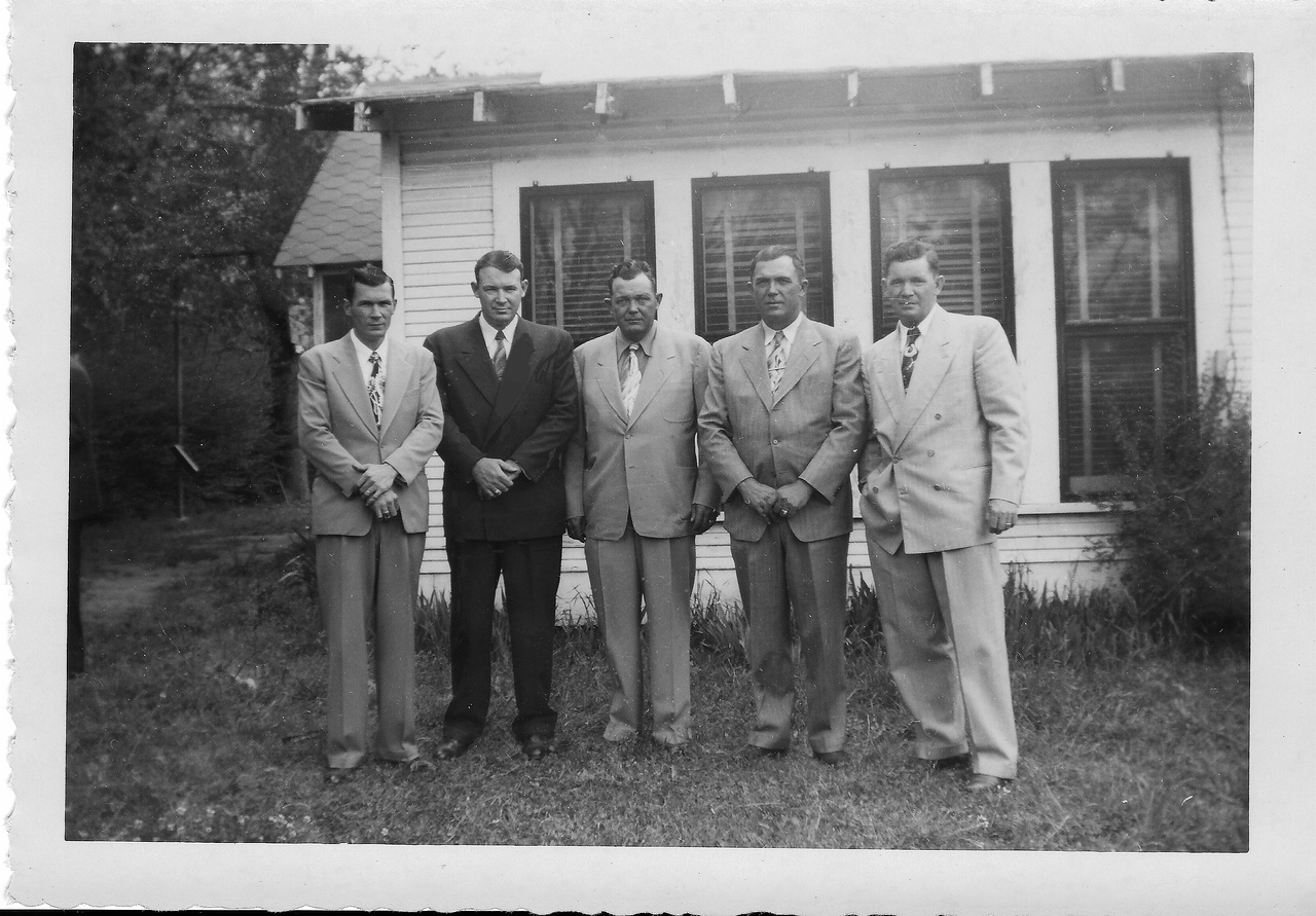 Boyett,Seaborn,Eddie,Don,Nathaniel (Than- double 1st cousin) 4-2-1951