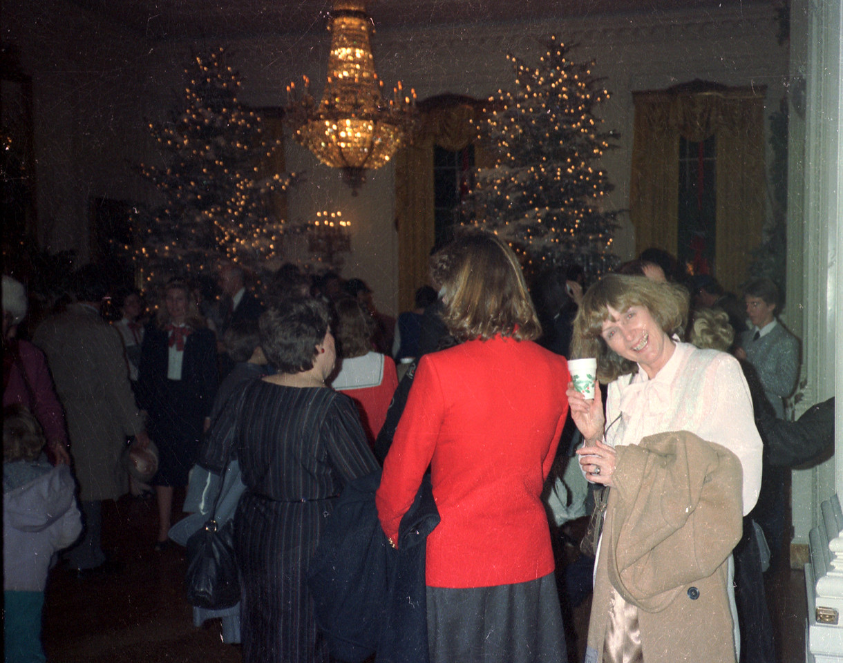 White House Christmas Party (Mary & Susan Findley[red jacket])