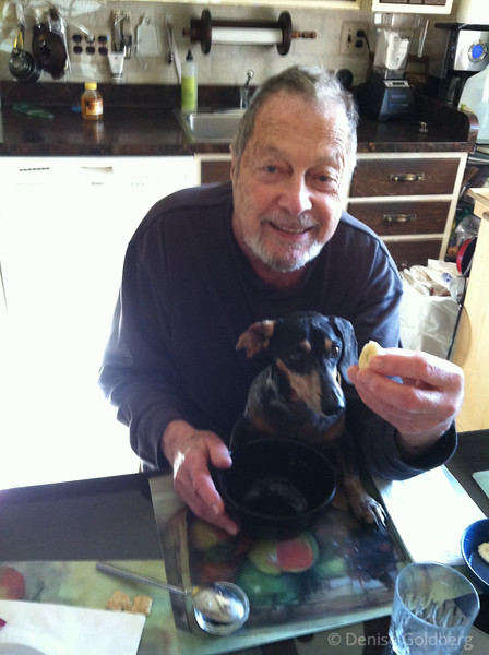Dad & Bailey in October 2012 ...photo by Suze (by iPhone)
