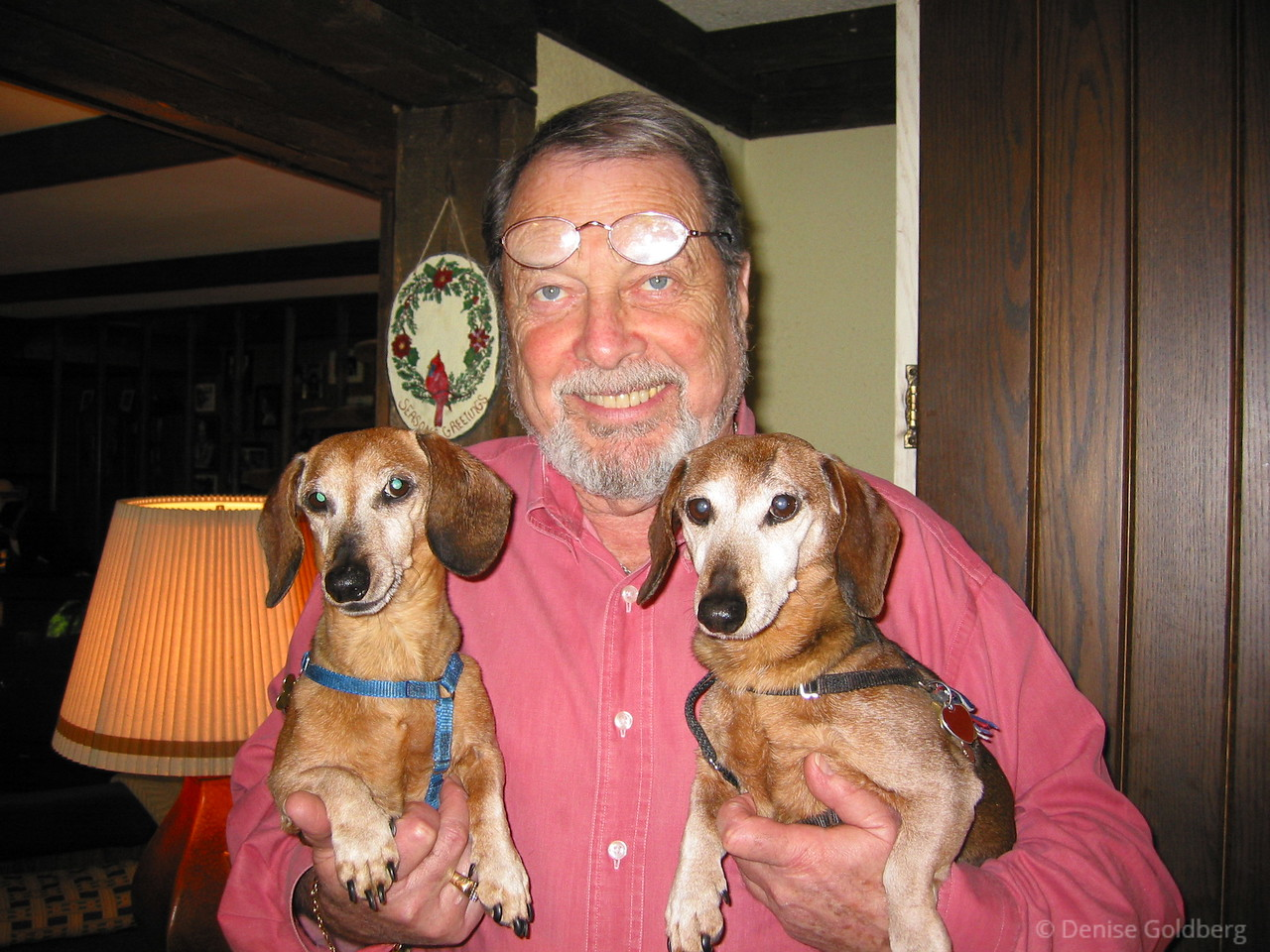 Dad with Brandy and Caesar, May 2002