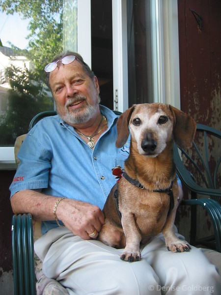 Dad and Caesar, August 2002