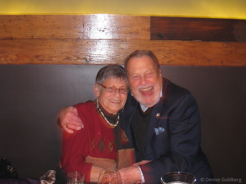 Mom & Dad on their anniversary, February 3, 2012 ...photo by Suze
