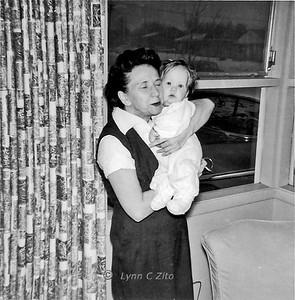 LYNN & GRANDMA VAUGHN JANUARY 1958