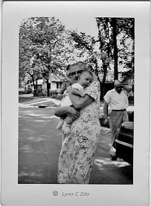 GRANDMA FLUEGEL, UNCLE SID & LYNN 1957