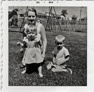 MOM, LYNN & CRAIG AUGUST 1958