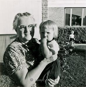 GRANDMA FLUEGEL, LYNN & MARK AUGUST 1958