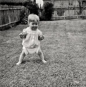 LYNN LEARNING TO WALK JULY 19, 1958