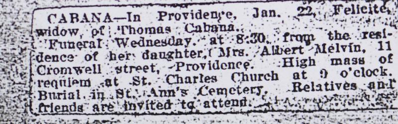 Thomas Cabana funeral notice