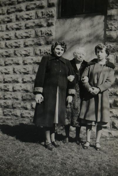 Claire Adwilda Ballard, (child of Raymond I. Ballard and Gladys S. Cabana) with Joan Thurston and Eugenia Cabana (née Bishop)