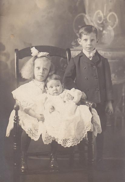 Hedwidge Florance, John Bishop, and Irene Mae Cabana