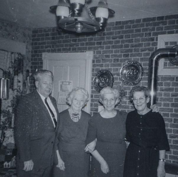 From Right to Left: Irene Mae Reeve (nêe Thurston, nêe Cabana), Gladys S Ballard (née Cabana), Eugenia Cabana (née Bishop), and John Bishop Cabana