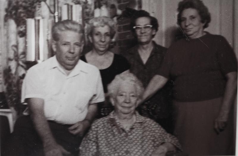 John Bishop, Gladys S, Irene Mae, Hedwidge Florance, and Eugenia Cabana (90 years old).