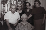 John Bishop, Gladys S, Irene Mae, Hedwidge Florance, and Eugenia Cabana (90 years old).