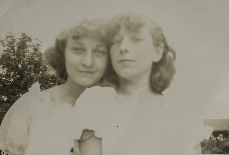 Mary Lou Skipper (née Cabana), child of John Bishop Cabana and Matilda Teresa LeDue, with Joan Thurston