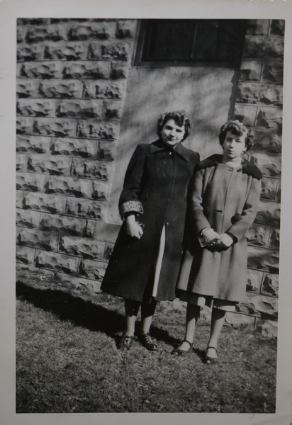 Claire Adwilda Ballard, child of Raymond I. Ballard and Gladys S. Cabana, with Joan Thurston