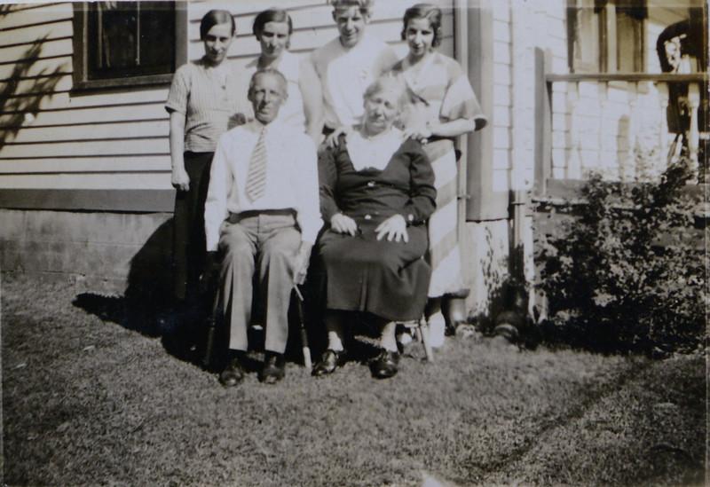 Frederick and Eugenia Cabana with children Irene Mae, Hedwidge Florance, John Bishop, Gladys S.
