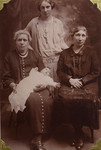 Stephanie B Bishop (née Belanger), Eugenia Cabana, Hedwidge Florance Brachett (née Cabana), and baby Marie Irene Brachett