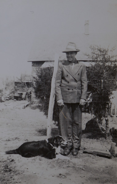 Odell Henderson Huff with dog Jack