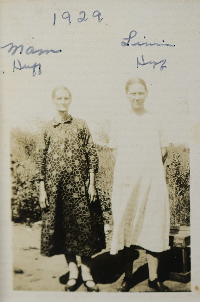Calvin Henderson Huff's mother with Linnie Lee Huff (née Smith), 1929