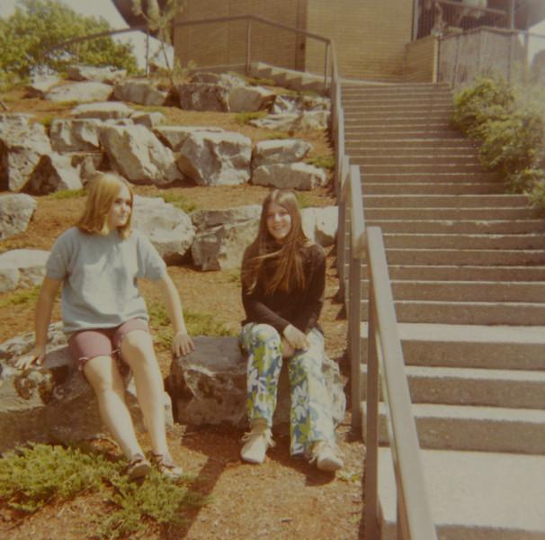 Patricia JoAnn Huff (right) Dec 1969