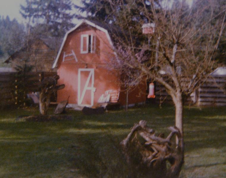 Odell Henderson Huff and Joan Lillian Huff's backyard in Kent, WA