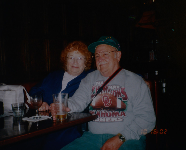 Joan Lillian Huff (née Thurston) and Odell Henderson Huff, 50th Wedding Anniversary in San Francisco, 2001