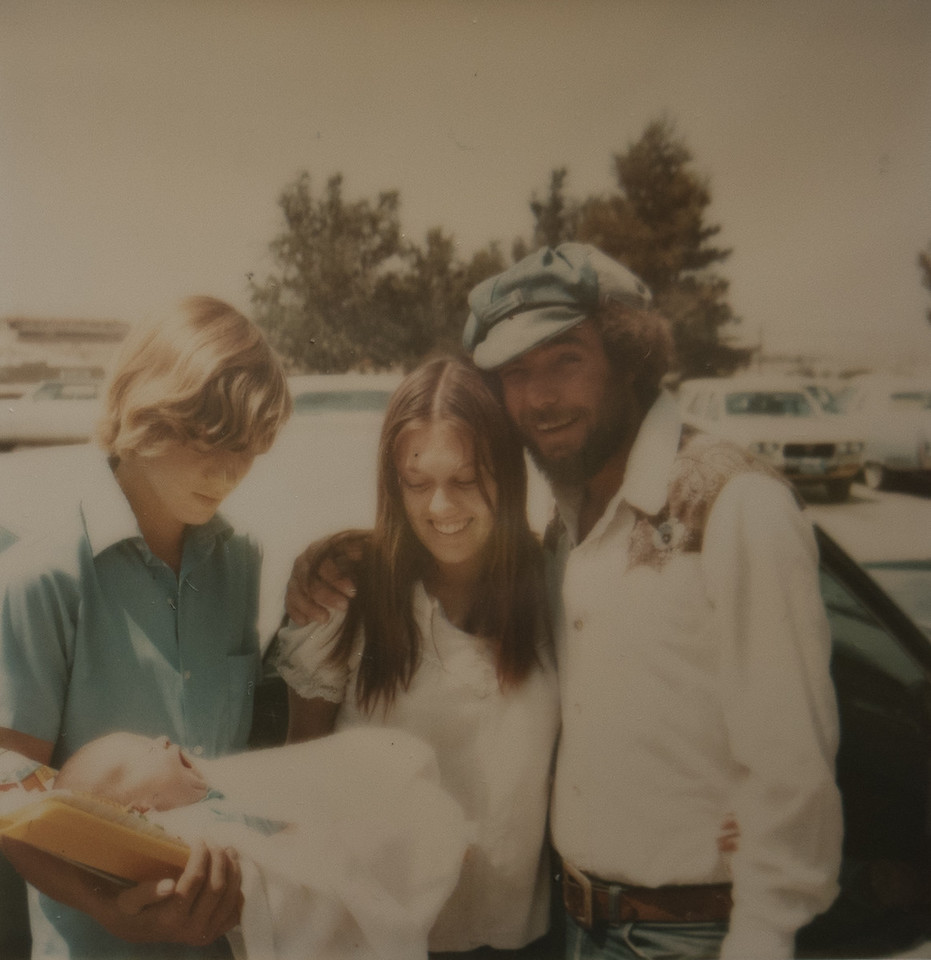 Jeremy with Gina Huff (Wilson), Robert White, and Robert's half-brother Glen.