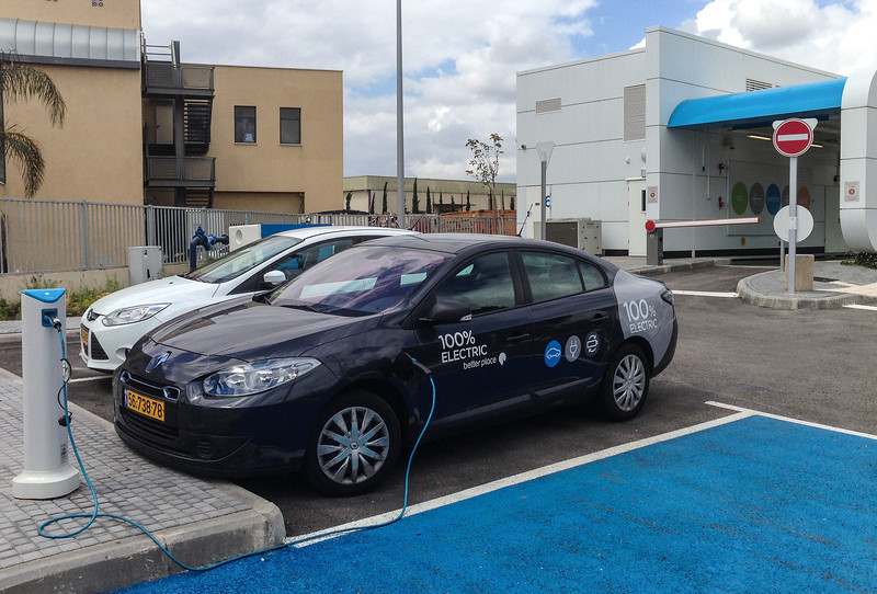 Go Green! An electric car charging station in the Golan!