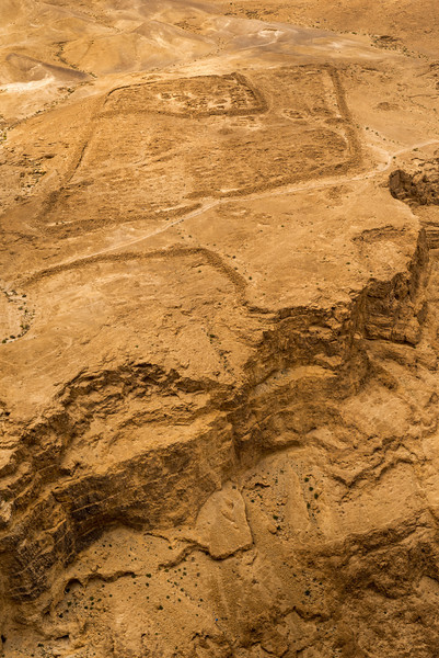 site of an encampment.<br /> Masada.