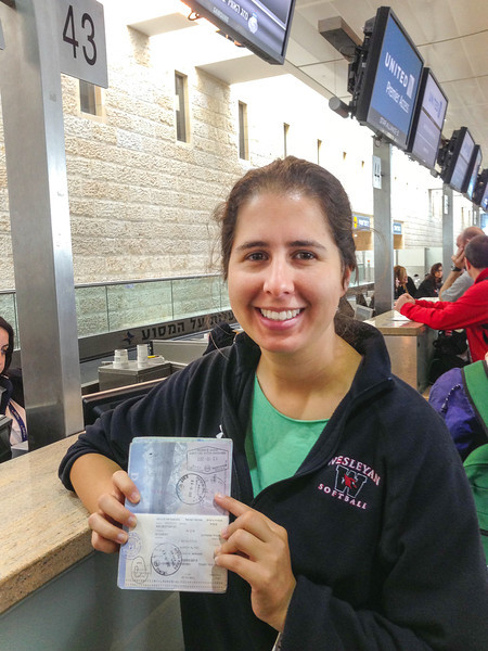 """This girl is destined not to be too far from an airline check-in counter!<br /> Ben Gurion Airport<br /> <br /> <a href=""""http://en.wikipedia.org/wiki/Ben_Gurion_Airport"""">http://en.wikipedia.org/wiki/Ben_Gurion_Airport</a>"""