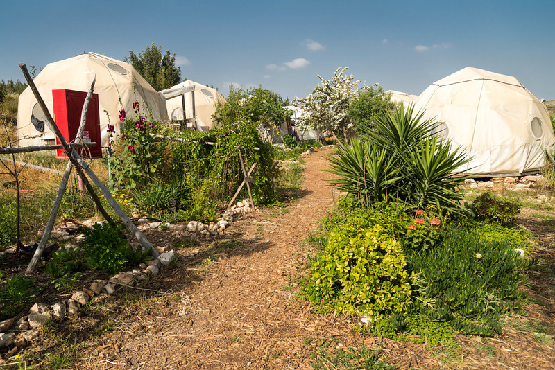 """The domes<br /> about 12 folks live here, two to a dome<br /> <br /> Hava and Adam Eco-Educational Farm<br /> Modi'in, Israel<br /> <br /> <a href=""""http://www.havaveadam.org/index.php"""">http://www.havaveadam.org/index.php</a>"""