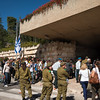 crowds streaming in to commemorate Memorial Day for Fallen Soldiers<br /> Mount Herzl Cemetery<br /> Jerusalem