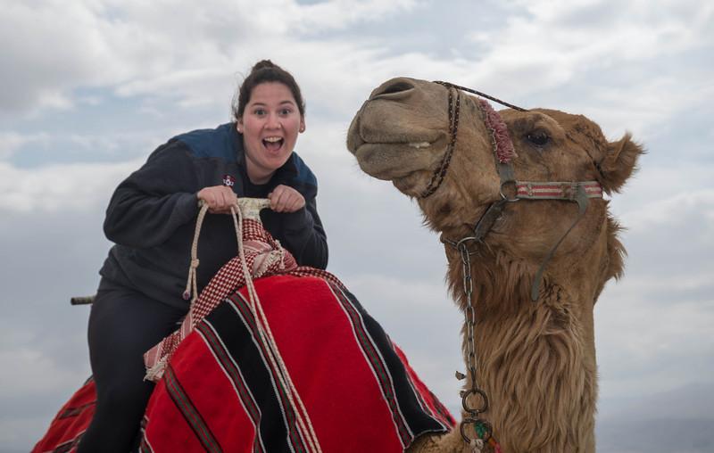 Talia and friend<br /> near Masada