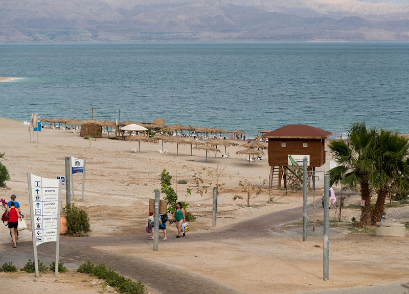The Dead Sea<br /> water usually contains about 3% salt; the Dead Sea has 33% salt, so floating is easy, but nothing much can exist in this body of water.