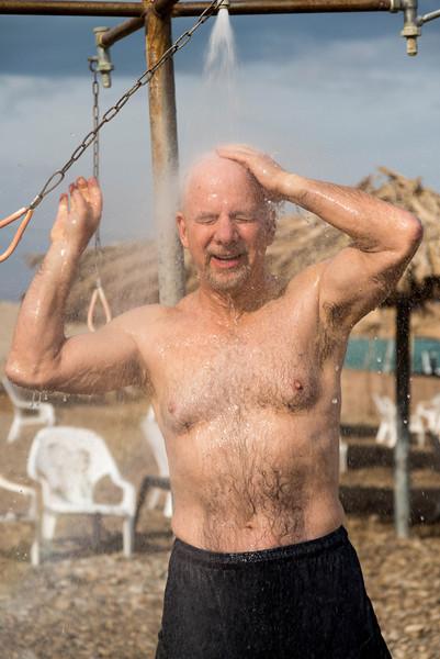 shower time<br /> Dead Sea