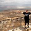 Talia at Masada, fronting the Dead Sea.