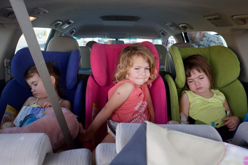 Car time . . . nap time.