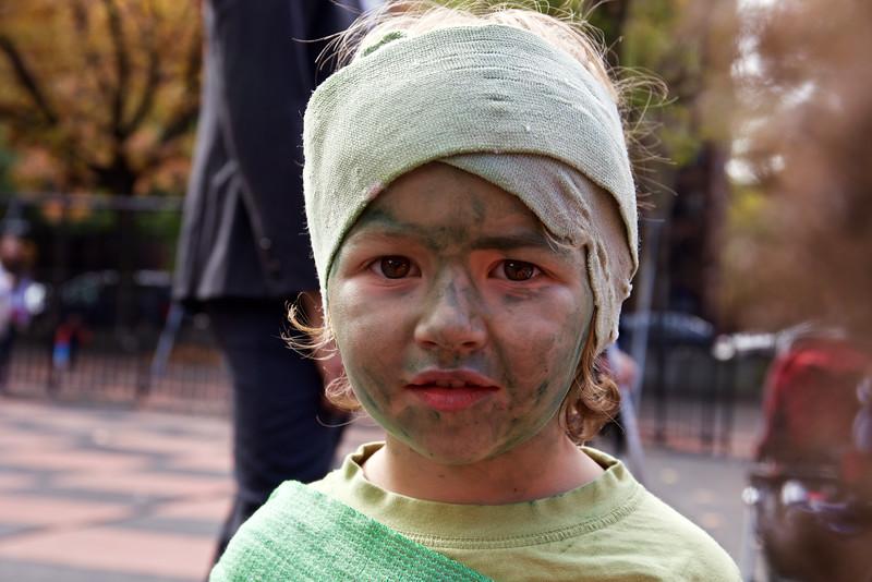 a green mummy