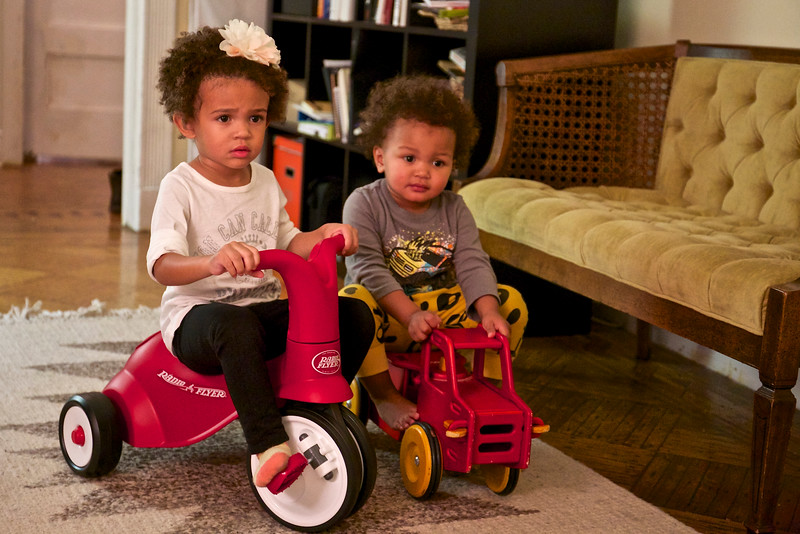 Cousins:  Grace-Ann and Baye, both two now.