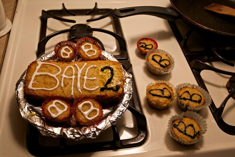 Baye's birthday cakes and cupcakes celebrate 10-11-14.