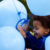 Baye was appropriately excited.  He later set the blue balloons free.