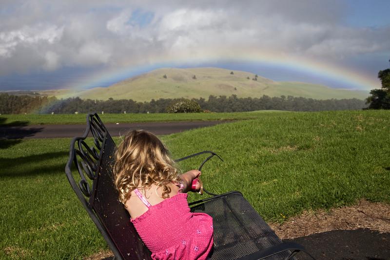 Clio contemplating somewhere over the rainbow.